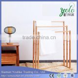 Houseware Single Pole Towel Rack Bamboo Towel Rack