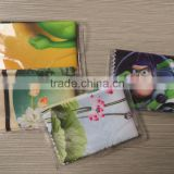 PVC pouch microfiber lens eyeglass sunglass cleaning cloth digital printing custom design