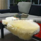 High Quality 100% Real wool sheared sheep skin animal fur rugs/blanket in 110*60cm
