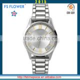 FS FLOWER - Quartz Watches 5 atm Water Resistant Stainless Steel Black Watch