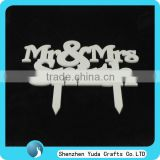 White plexiglass wedding letters cake topper, customize acrylic cake topper