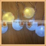 2016 new arrival christmas lights decorations with flower ball battery operated powder led string light