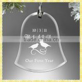 Personalized Engraved Bell Glass Ornaments For Christmas Gifts Items
