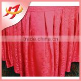 Customize 100% polyester jacquard gathered ruffled table skirt wholesale