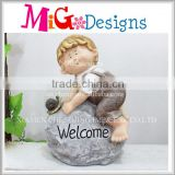 Garden Decoration Magnesium Oxide Boy and girl statue
