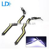New Design Z Letter Shape High Brightness 12V White Waterproof Car DRL Led Running Daylight Lighting