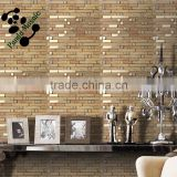 SMJ01 wall decorative frosted mosaic glass mosaic tile strips gold color mosaic