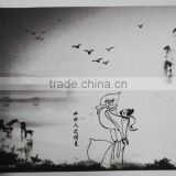 HP Latex ink digital printing fabric for Chinese painting