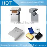 Aluminum Metal Cigarette Cigar Box Holder Tobacco Storage Case