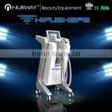 Skin Lifting Beauty Salon Equipment High Intensive Multi-polar RF Focused Ultrasound HIFU Body Slimming Machine High Frequency Facial Device
