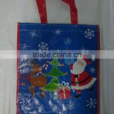 2015 Christmas Drawstring Gift Bags, Cotton Canvas Christmas Santa Sack
