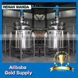 S304/S316 Stainless steel 8000L jacketed heating Chemical Reaction kettle stirred Tank reactor