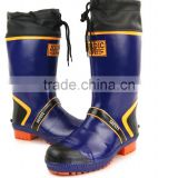 useful 100% Natural Rubber inserted with steel toe cap or steel midsole waterproof mens rubber safety work boots