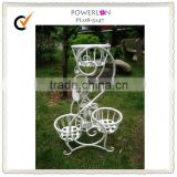 Pracital wrought iron triangle wedding flower pot stands