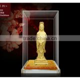 Hot Product 2014 24K Gold Plated Promotion gift Buddha statue in display box WS336-DF032