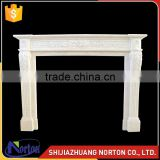 modern sample carving white stone fireplace design NTMF-F532X