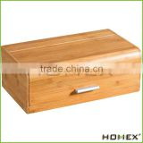 Eco-friendly bamboo bread storage bin Homex BSCI/Factory