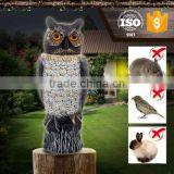 PE coffee land cute smart garden owl with plastic bobbling head activated moving by wind action