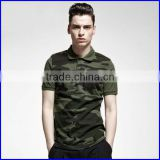 Fashion design color combination polo t shirt two color camouflage polo shirt for men