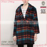 new design checked plaid tweed elegant fancy korea fashion 2015 unique women winter coats