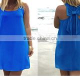 newest back bow many candy colors beach dress women dress women cover up beach wrap chiffon dress skirt