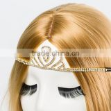 gold crown hair ornaments wholesale luxury pageant crowns for sale young ladies' fancy hair clips