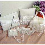 2014 Elegant Wedding Set of Guest Book and Pen with Lace Decoration Elegant Wedding Favor Dreamly Wedding Centerpiece