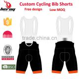 BEROY Customized Cycling Bib Shorts with Low MOQ, Sublimation Cycling Bib Gel Padded