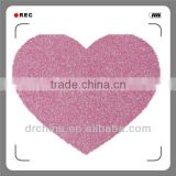 Shiny DIY Decration Colorful Heart Hot Selling Handcraft Glitter Cardstock Paper Holiday Supplies