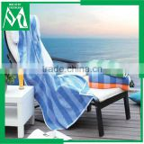 100% organic cotton printed stripe beach towel pool towel