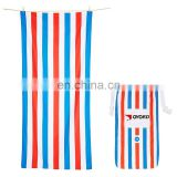 Wholesale sublimation Custom design Printed Microfiber Beach Sports Towel With Logo