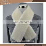 fashion double full fur mink fur scarf genuine mink fur neckerchief for women