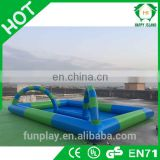 HI Hot sale kids game race track, PVC tarpaulin inflatable ball pool, inflatable race tracking field