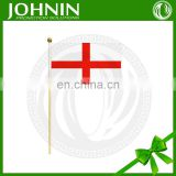 Johnin Hot Sale Product Cheap Wholesale Wooden Pole Hand Hold Flag