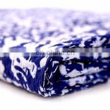 Paisley indigo blue Kantha Quilt Hand Quilted Indian Latest Throw Blanket Twin size Kantha Quilt Bed cover