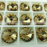 Luxury Jewelry stone decorative round crystal button many colors add setting