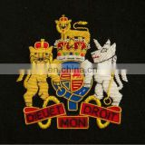 Army Handmade Gold wire bullion Embroidered Badges / Military Blazer Patches and for Army, Navy & Air Force