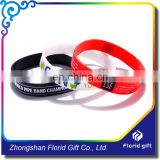 Wholesales custom design printing cheap name rubber band bracelet