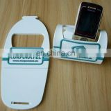 Soft pvc customized cellphone stand for promotion,pvc mobile phone holder, pvc desk phone display holder