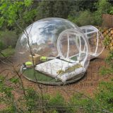 Factory price giant beautiful commercial inflatable clear bubble tent for camping on sale
