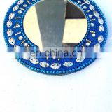 Rawat Handicrafts Indian Handmade Lac Beaded Glitter work Handicrafted make up mirror,Make up mirror,small make up mirror
