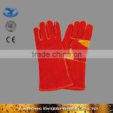 "14""/16"" long length high quality anti-cutting leather welding gloves manufacture LG034"