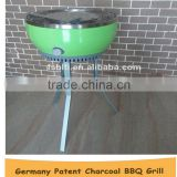 round stainless steel outdoor charcoal bbq grill