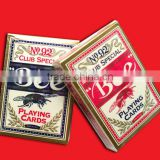 Custom bicycle playing card with pvc box,game cards