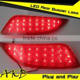 AKD Car Styling LED Rear Bumper Light for Toyota Camry V55 LED Reflector 2015 Camry Rear Bumper Lamp Tail Lamp DRL Brake