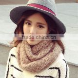 2016 New Style Ladies Fashion Circle Wool Plain Knitted Taiwan Magic Scarf