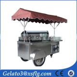 European Quality, Chinese Price steaming cart hand push ice cream cart portable carts