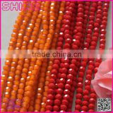 wholesale factory price general colorful loose beads 4mm 6mm 8mm faceted roundelle glass crystal beads