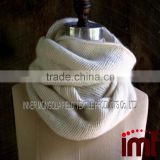 Cashmere Ribbed Knit Circle Scarf