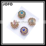 Latest Trendy Design Crystal Flower Lapel Fashion Brooch Hijab Wedding Dress Accessories PDJ0103